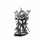 Hands Up Soldier Graffiti Decal