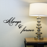 Always and forever Stacked Text Wall Decal