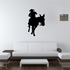 Approaching Cowboy Riding Horse Decal