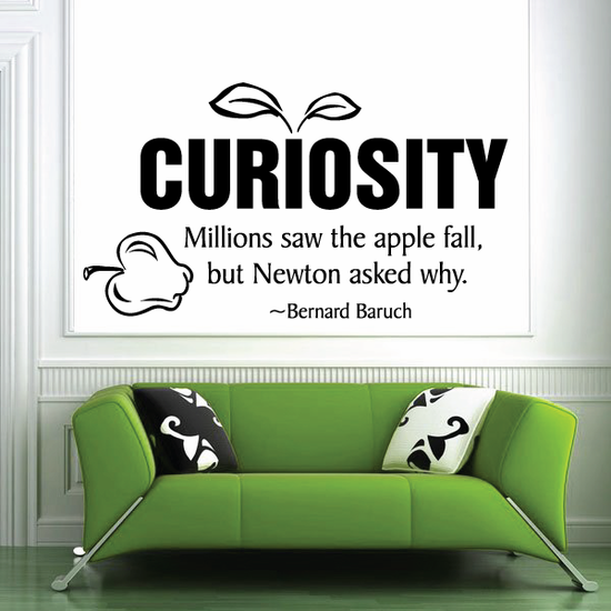 Curiosity millions saw the apple fall but Newton asked why Bernard Baruch Wall Decal