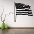 Rippling America Flag Decal