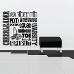 Cheerleading Collage Wall Decal