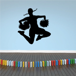 Pigtails Cheerleader Decal