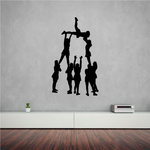 Triple Stack Cheerleading Tower Decal