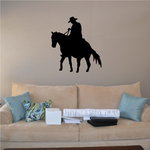 Riding Off Cowboy on Horse Decal