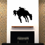 Bucking Saddled Horse Decal