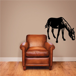 Stable Horse Grazing Decal