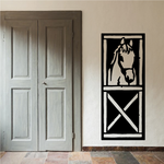 Horse Head Peaking out of Stable Door Decal