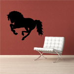 Running Long Haired Horse Decal