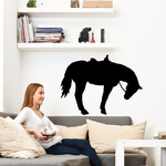 Saddled Horse Balancing Decal