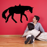 Saddled Horse Trotting Decal