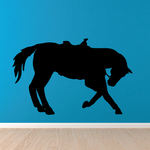 Saddled Horse Kneeling Decal