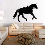 Saddled Horse Canter Decal