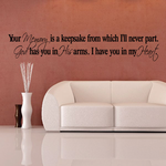 Your memory is a keepsake from which Ill never part Wall Decal