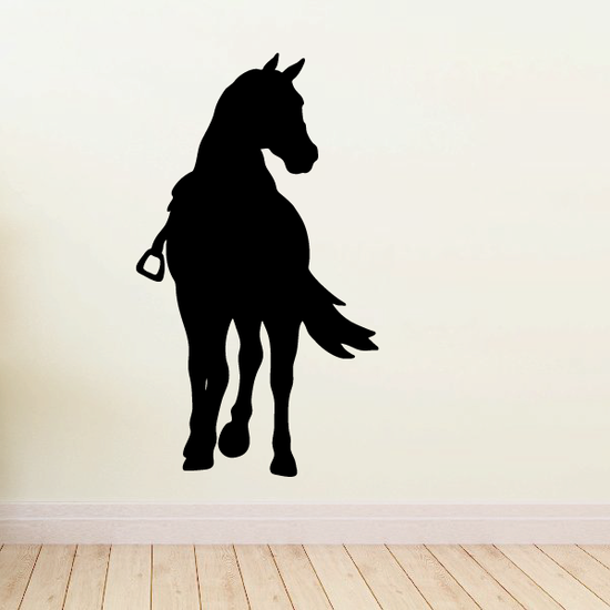 Saddled Horse Turning Look Decal