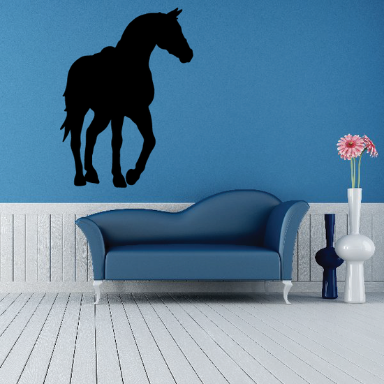 Saddled Horse Curious Look Decal