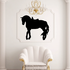 Saddled Horse Standing Decal