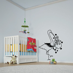 Stork Delivering Baby Wall Decal