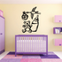 Flying Stork with Bear and Bottle Wall Decal