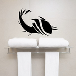 Abstract Whale Swimming Decal