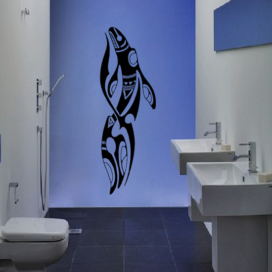 Tribal Blue Whale Decal