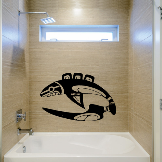 Long Tail Tribal Whale Decal