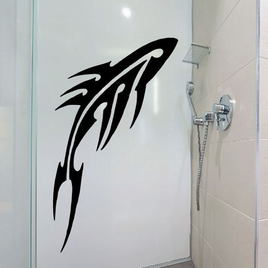 Abstract Blade Whale Decal