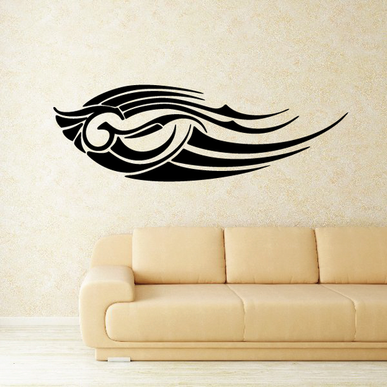 Tribal Vehicle Pinstripe Wall Decal - Vinyl Decal - Car Decal - MC259