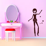 Girl with Stars Decal