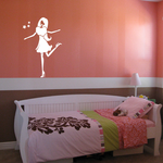 Girl with leg up Decal