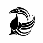 Tribal Bird pin stripes and lines Car Vinyl Decal Sticker Stickers 0004