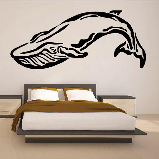 Serene Flipping Whale Decal
