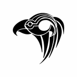 Tribal Bird pin stripes and lines Car Vinyl Decal Sticker Stickers 0006