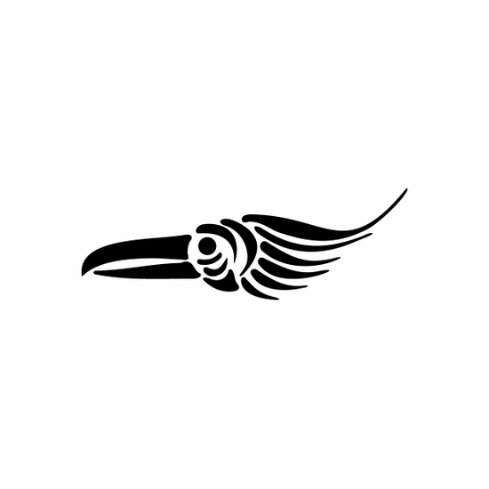 Tribal Bird pin stripes and lines Car Vinyl Decal Sticker Stickers 0008