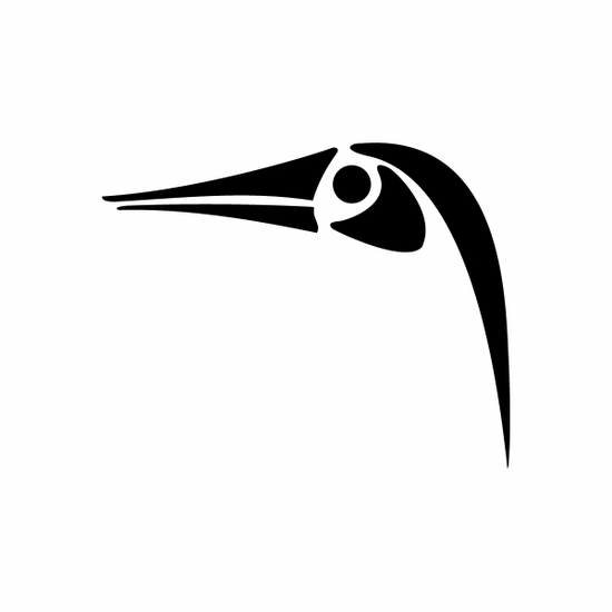 Tribal Bird pin stripes and lines Car Vinyl Decal Sticker Stickers 0009