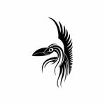 Tribal Bird pin stripes and lines Car Vinyl Decal Sticker Stickers 0013