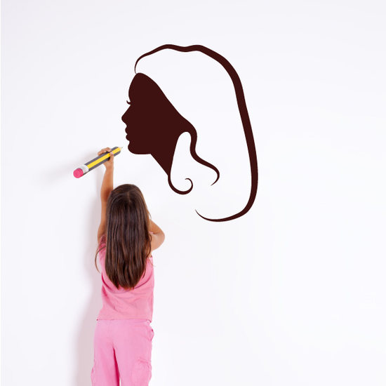 Mannequin Head Side Silhouette Decal