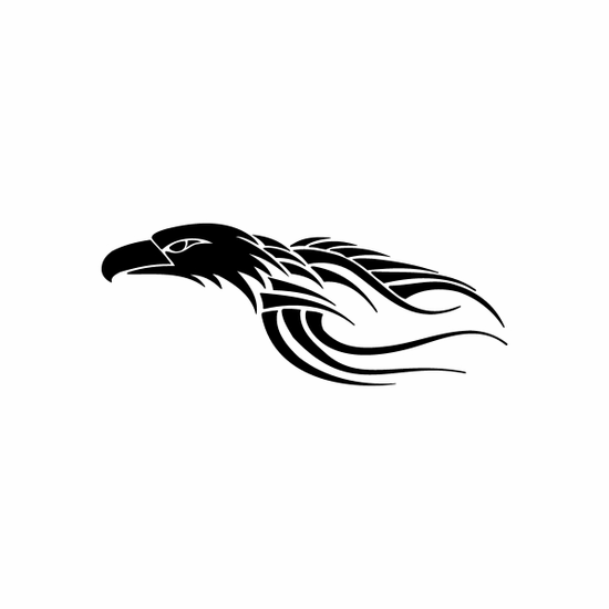 Tribal Bird pin stripes and lines Car Vinyl Decal Sticker Stickers 0015