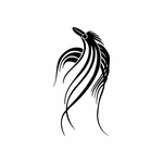 Tribal Bird pin stripes and lines Car Vinyl Decal Sticker Stickers 0016