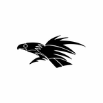 Tribal Bird pin stripes and lines Car Vinyl Decal Sticker Stickers 0017