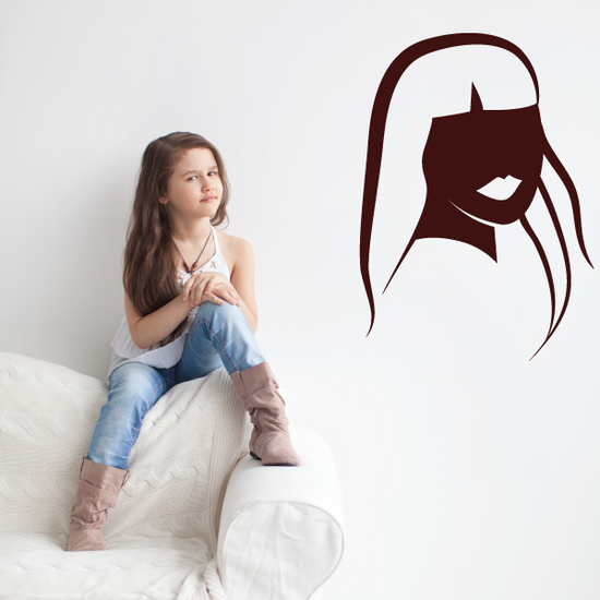 Mannequin Head with lips Silhouette Decal