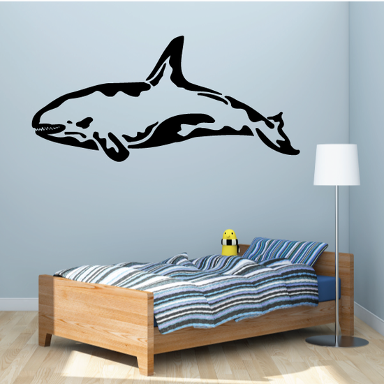 Angry Killer Whale Decal