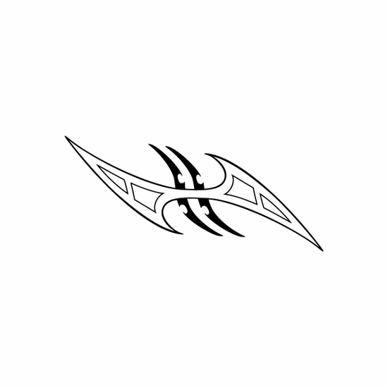Tribal Bird pin stripes and lines Car Vinyl Decal Sticker Stickers 0025