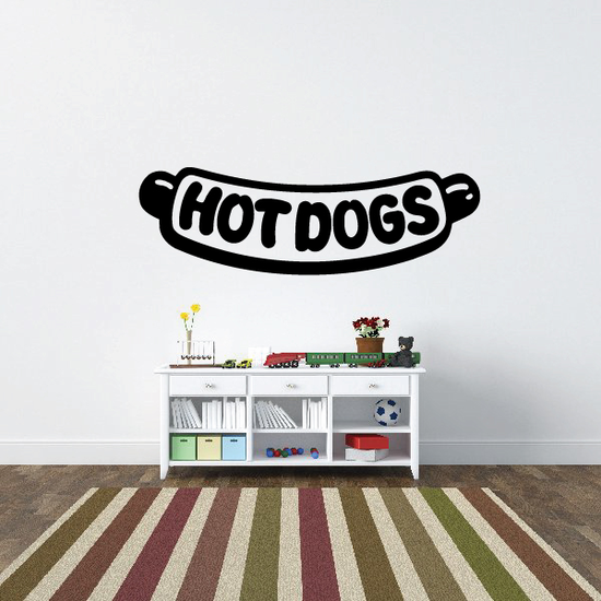 Hot Dogs Wall Decal - Vinyl Decal - Car Decal - Business Sign - MC246