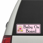 Baby Girl on Board Rectangle Sticker