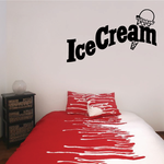 Ice Cream Wall Decal - Vinyl Decal - Car Decal - Business Sign - MC248