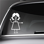 Mom With Arm Up and Out Decal