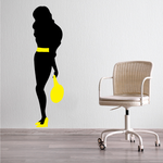 Female with Yellow Shoes and Purse Sticker