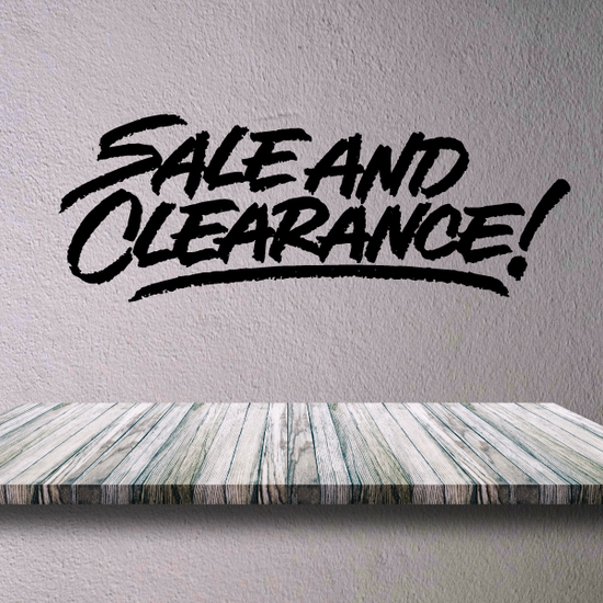 Sale And Clearance Wall Decal - Vinyl Decal - Car Decal - Business Sign - MC254