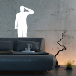 Soldier Saluting Decal